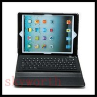 Keyboard Case   Bluetooth Wireless keyboard for Apple Ipad air 5 mini 2 retina Tablet PC leather case Stand