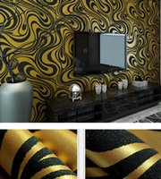 Wholesale Fashion Hot m m wallpaper rolls Papel de parede Sprinkle gold murals damask wall paper roll modern stereo D mural wall paper