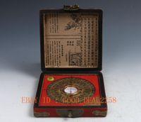art hardwood - Vintage Style Hardwood Hand painting Dragon And Phoenix Box Ancient Compass