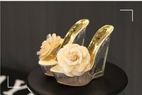 alien high heels - Ultra thick bottom with cool slippers high transparent glass slipper alien waterproof wedge heel shoes