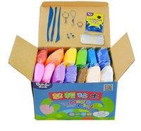 Wholesale 24 colors DIY D magic color clay kids fancy toys brinquedos malleable plasticine g bag