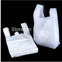 plastic carrier bags - 100pcs White Vest Style Plastic Carrier Shopping Hand Bag Packaging Bags Home USE SMALL CHEAP