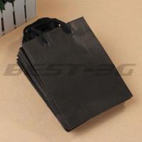 shopping bags paper - x Black Rectangle Kraft Paper Carrier Gift Present Packing Shopping Bag HOT