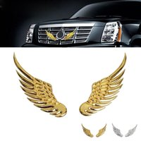 Wholesale 2016 Fashion Personality Wings emblem Style Demon Car Stickers Auto Emblem Logo Paper Decoration Car LOGO Sticker