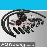 ae store - J2 Racing Store Full Black AE STYLE MGTE MKIII Fuel Pressure Regulator with hose line kits Fittings Gauge