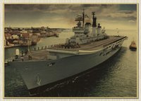 aircraft paintings - Vintage wall Paper Poster The aircraft carrier X42 CM Retro Paper large decoration Paintings