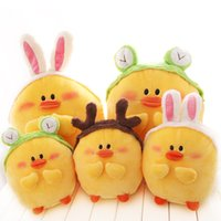 Cheap Stuffed Toys Cartoon Cute Plush Toy Doll Queen Pillow Rubber Duck Face Girls Day Gift Ideas Wholesale 25cm Style Random Send