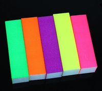 Wholesale pc Multicolor Nails Polished Rubbing Roughly Grinding Block Frosted Block Nail Buffing Tools