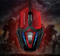 Wholesale VP X7 Buttons dpi Red Super Optical Gaming Mouse USB Wired Professional Game Mice For PC Computer Desktop Gamer SV000510