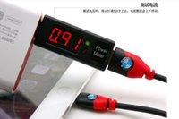 Wholesale USB current and voltage detecting instrument testing meter charging current detector USB voltage current meter