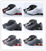 Wholesale Classical shox outsole running shoes for men sneaker sports shoes outdoor R4s athletic footwear shoes trainer with box black white size41