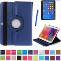 Wholesale 1PC For Galaxy Tab T530 Degree Rotating PU Leather Case Stand Case For Samsung Galaxy Tab Case Free Stylus