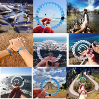 Wholesale New Mud from Dead SeaSilicone blue and white wild lokai bracelets for MEN AND WOMEN With Logo Size S M L XL