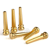 Wholesale 6pcs High Quality Brass Bridge Pins for Acoustic Guitar Golden Accessories New