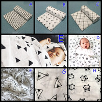 Cheap 47*47INCH Organic Cotton Bamboo Muslin Swaddle Blanket modern burlap multi-use ins blanket infant parisarc newborn baby wrap Manta de bebe