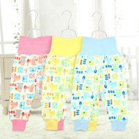 Wholesale Baby care belly pants waist pants crotch dual use baby warm autumn and winter pants trousers newborn BE213