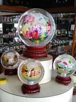 Wholesale New arrival glass handicraft inside painting crystal ball with collection value Chinese glass globe terrarium