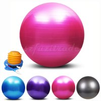 Wholesale cm Yoga Ball colors High Quality Explosion proof Fitness Ball Pump Fitness Wall with Free Air Pump AKA00014L