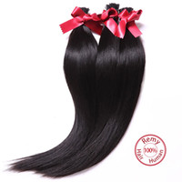 Wholesale EVET quot to quot Brazilian I Tip Hair Extensions B Black Virgin Brazil Hair Bundles A Virgin Hair Straight Hair Weaving