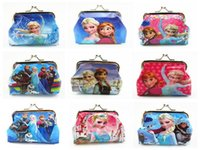 Wholesale 3D cartoon frozen purse frozen coin purse frozen cartoon shell bag wallet purses Minions wallet purse