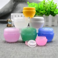 Wholesale 5g Empty Cosmetic Containers Small Refillable Plastic Jars for Lip Balm Cream Sample Travel set Packaing