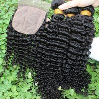 Cheap silk base closure with bundles Best brazilian virgin hair