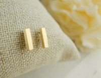 women earrings lot - 10pcs Gold silver and pink classicalslim bar Stud Earrings for women ED031