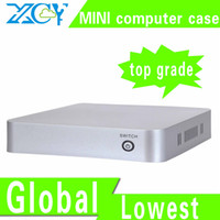 Wholesale XCY L ABS computer enclosure small computer case ABS material support RJ port microphone earphone