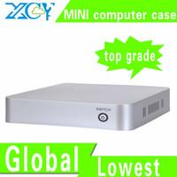 al por mayor ordenadores horizontales-XCY mayor-L-19 ABS armario para ordenador caja de la computadora pequeña ABS apoyo material puerto RJ-45 / micrófono / auricular