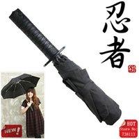 Wholesale Outdoor Sun Big Size Japanese Samurai Swords Creative Umbrella Folding Automatic Knife Ninja Katana Umbrella