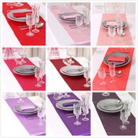Wholesale Colorful quot X108 quot High Grade Holiday Theme Satin Table Runners Wedding Banquet Centerpieces Table Cloth For Party Supplies
