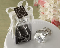Wholesale Personalized party souvenir gift artificial crystal diamond keyring for guest wedding souvenirs