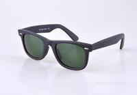 mens sunglasses - HOT seal Matte Black sunglasses mens sun glasses glass Lens Plank sunglasses High Quality womens glasses UV protection eyeglass mm