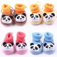 animal snow jackets - Cartoon panda plus thick velvet warm casual toddler shoes winter snow sports waist jacket socks Boots pair Y