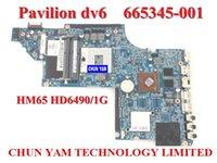 Laptop Motherboards - laptop Motherboard for HP Pavilion DV6 DV6 HM65 HD6490 G Notebook systemboard Tested Days Warranty