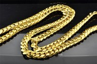 Wholesale 10K Solid Heavy MM Yellow Gold Miami Cuban Link Chain Necklace Inch g