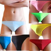 Wholesale High Quality pc Men Male New Sexy Underwear Briefs Nylon Breathable Low Waist Panties Briefs Colors Sizes