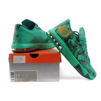 Cheap 2014 new KD VI basketball shoes dropshipping man sport shoes lightweight durablility shoe green size 41-46