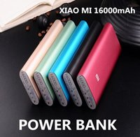 Wholesale Xiaomi Mi mAh Power Bank Portable Emergency Battery External Chargers Samsung Galaxy Powerbanks Cell Phones power banks Powerbank