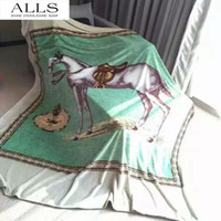 best travel blanket - warm blanket horse fleece blanket soft like cloud best throw blanket for travel on plane bedspread m kg