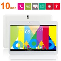 Wholesale 10 inch WCDMA G Phone Call tablet pc G G MTK6572 Dual Core Ghz android phone call GPS bluetooth Wifi Dual Camera with SIM Card