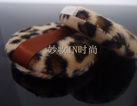 Wholesale CM piece Women amp Men Cute Leopard Cosmetic Puff Face Loose Powder Makeup Tool