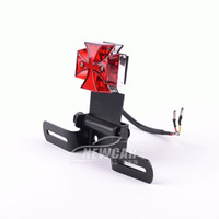 Wholesale Motorcycle taillight Modified motorcycle accessories LED cross Brake lights license plate lamp