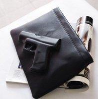 pistol - Women bag gun shoulder bag d bag day clutch envelope pistol bag vlieger vandam style fashion PU Leather handbag messenger bag