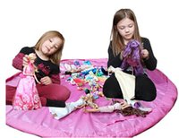 toy organizer box - shanghai2010 New cm cm Large Portable Play Mat Toy Storage Bags For Kids Children Infant Baby Playing Mat Organizer Blanket Rug Boxes