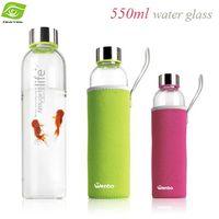 glass water bottles - 550ML Custom Outdoor Sports Kettle Glass Heat Insulation Environmental Creative Travel Kettle Promotional Gifts Water Bottle dandys