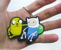 achat en gros de figurines de temps d'aventure-Adventure Time Porte-clés Porte-clés Porte-clés 3D Figurine Action Cute Promotion 10pcs