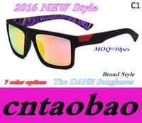 al por mayor deportivos marcas playas-Óptica POR Zeiss Las gafas de sol de DANE Las mujeres de la marca de fábrica se divierten la cara completa del ajuste del marco de las gafas de sol de la playa 7 opciones de los colores Envío rápido