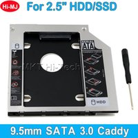 Wholesale Hot Sale Universal Aluminum nd HDD Caddy mm quot SATA SSD Case HDD Enclosure for Notebook ODD CD DVD ROM Optical Bay