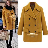 Wholesale Cashmere Wool Winter Jackets Women - 2015 new Plus Size women's winter fashion woolen jacket Large lapel Women Coat In the long section Overcoat